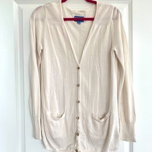 Cream SimplyVera Cardigan with Pockets